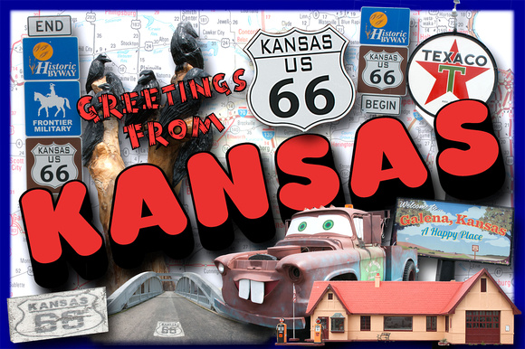 Greetings From Kansas Route 66